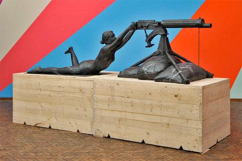 thom puckey artist nude gun sculpture