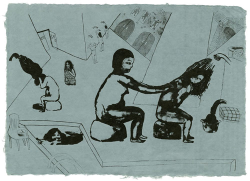 saejean oh artist drawing lithography