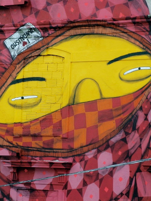 Os Gemeos and Blu mural in Lisboa Portugal