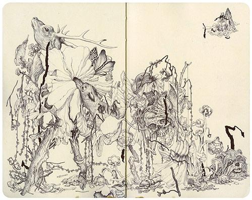 artist james jean drawings paintings