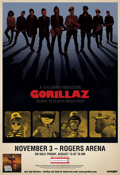 gorillaz escape to plastic beach tour vancouver booooooom giveaway