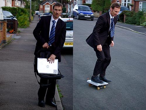 laptop skateboard