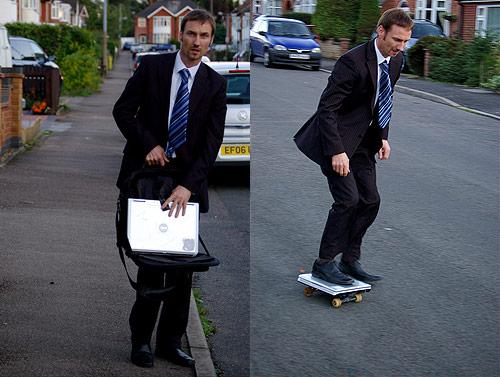 laptop skateboard
