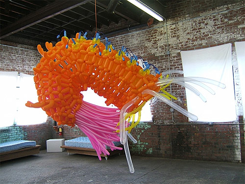 Balloon sculptures by artist Jason Hackenwerth