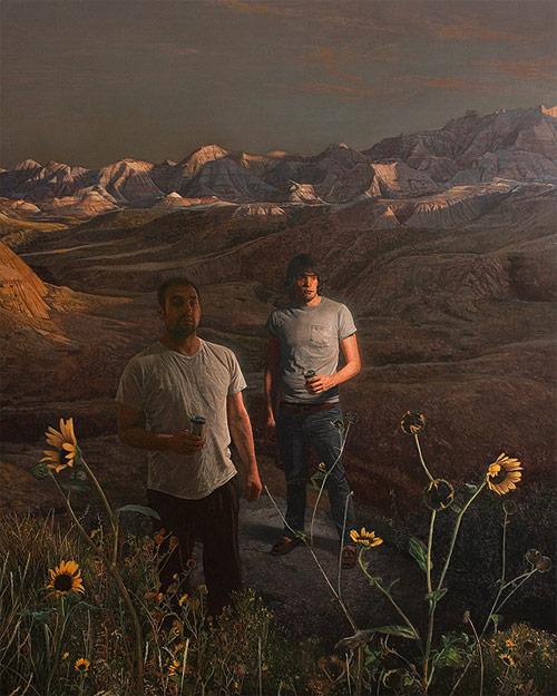 Artist painting painter Alex Roulette