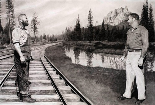 charcoal drawings scott hunt artist