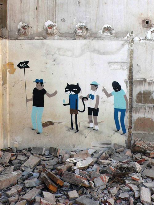 Street artist Escif