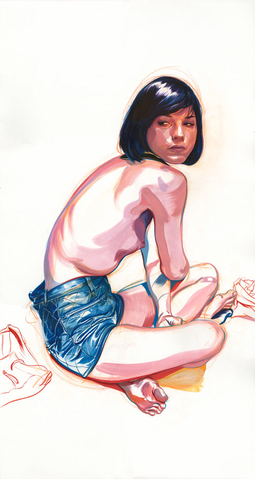 james jean drawings birds and boys