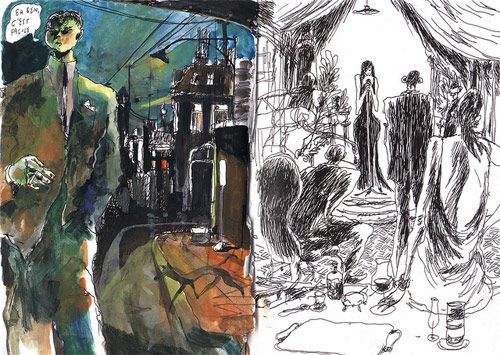 sam vanallemeersch drawing artist sketchbook