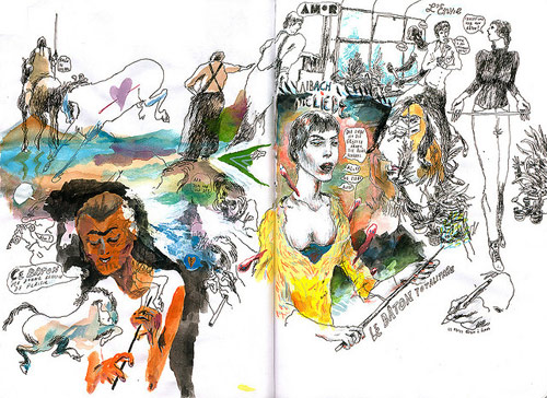 sam vanallemeersch drawing artist sketchbook