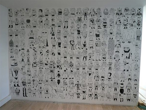 shobo shobo wall drawing