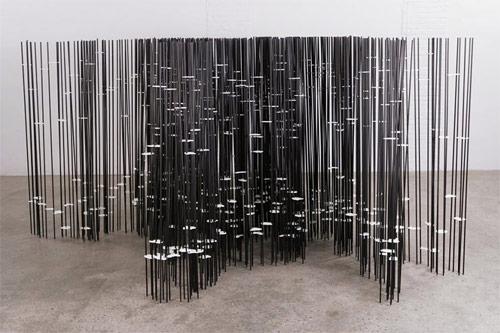 Sculptures by artist Tobias Putrih
