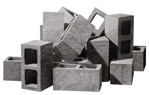artist painter painting nolan haan cinder blocks bricks