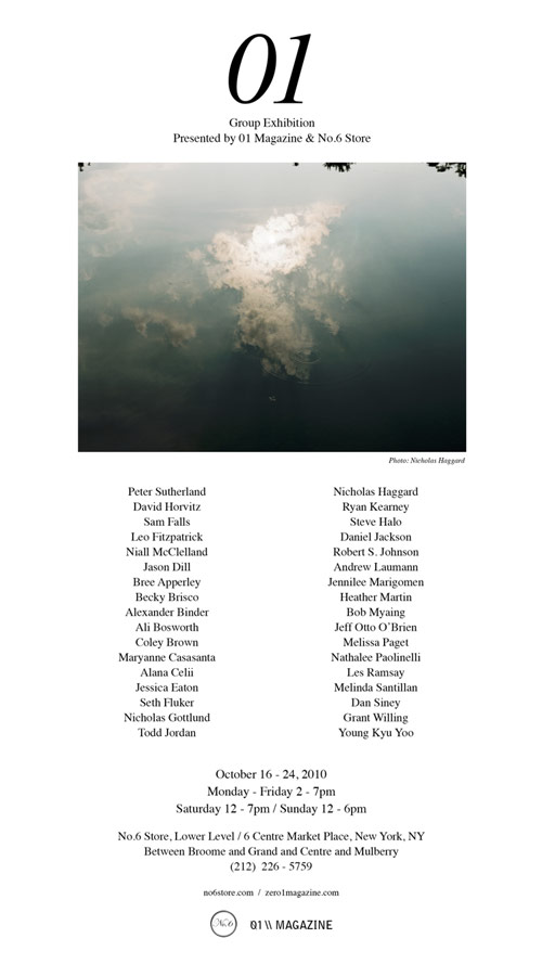 zero1 magazine group show photography artists photographers new york
