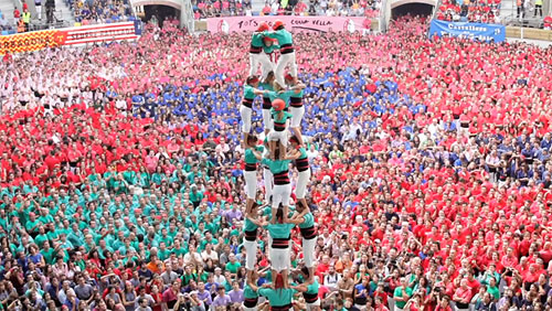 Casteller highest human castle building contest spain