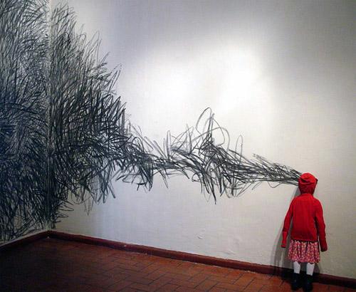 artist jorge pineda sculpture el bosque mentiras