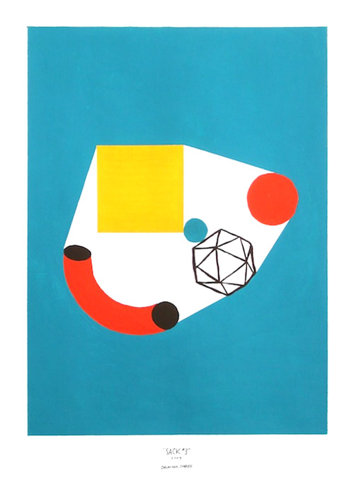 shape studies paintings by illustrator damien correll