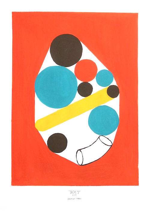 shape studies paintings by illustrator damien correll