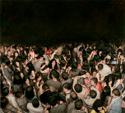 mosh pits paintings dan witz painter