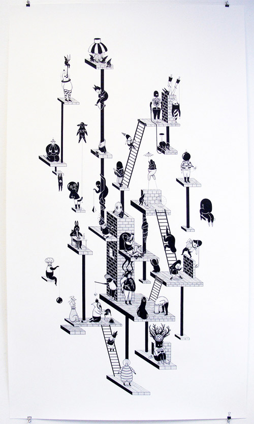artist jerome meynen ink drawings