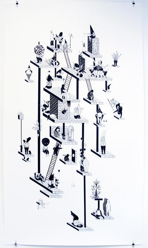 artist jerome meynen ink drawings