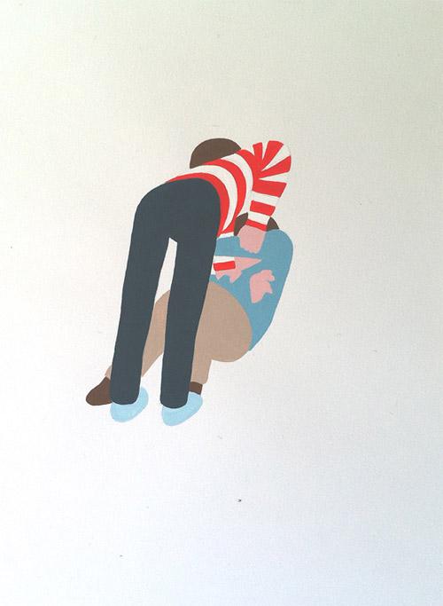 drawings by artist joris goulenok fighting