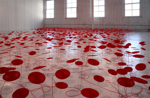 artist beili liu installations hand coiled thread