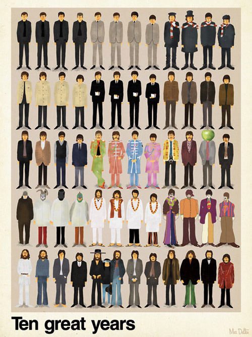 max dalton ten great years beatles poster