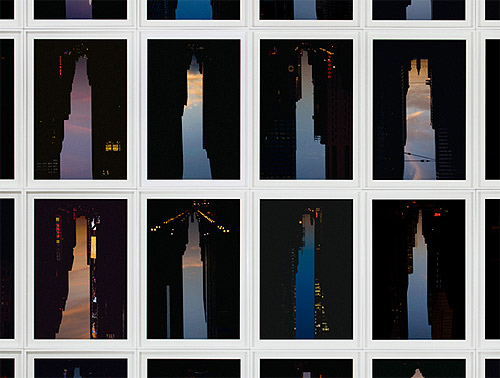 Buildings made of sky photos by Artist Peter Wegner