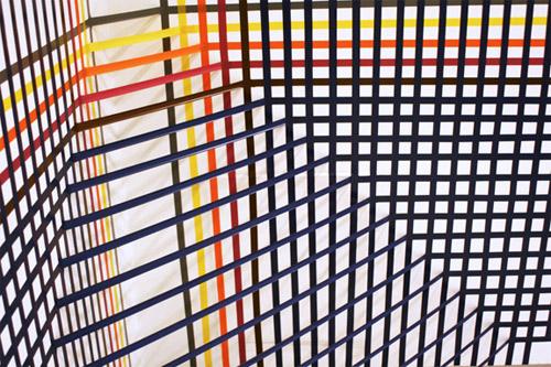 tape art installations artist rebecca ward