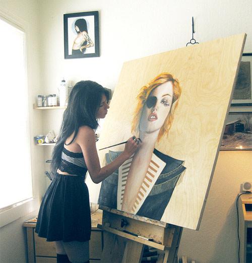 artist painter painting charmaine olivia