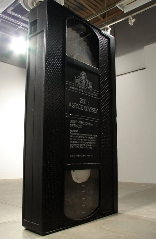david herbert 2001 a space odyssey vhs sculpture
