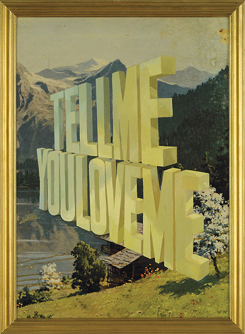 word paintings by artist painter wayne white