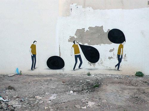 street artist painter painting escif