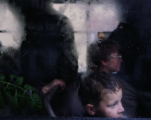 Bus window photos by photographer Andrew Miksys