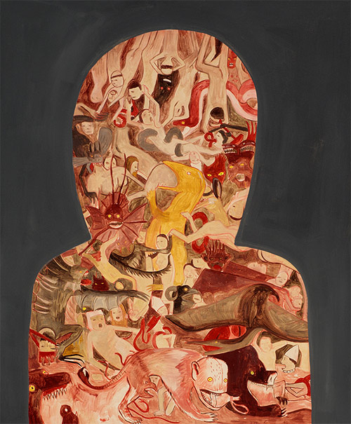 vancouver based artist painter andrew pommier at the time of fear series