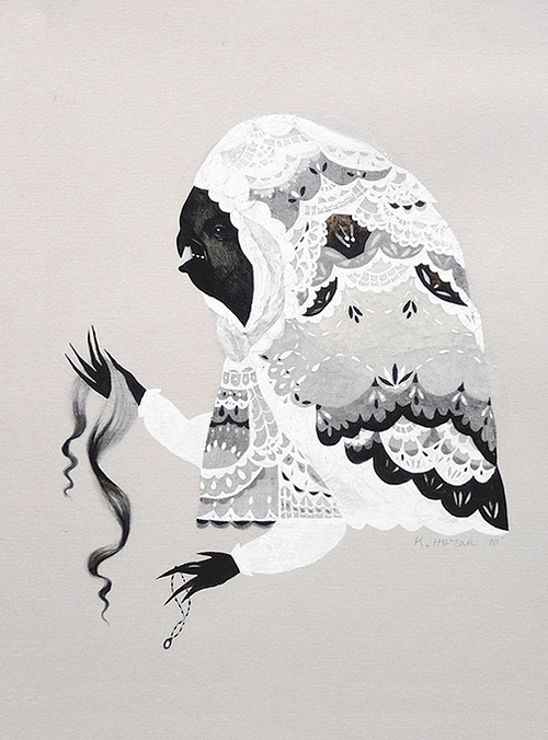 artist gouache drawing katy horan