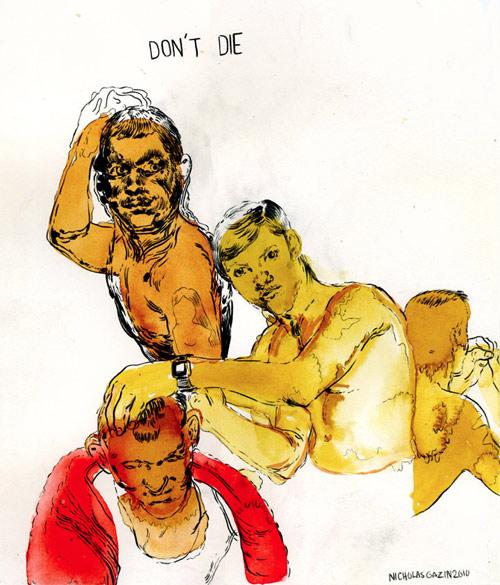 Artist Nicholas Gazin drawings