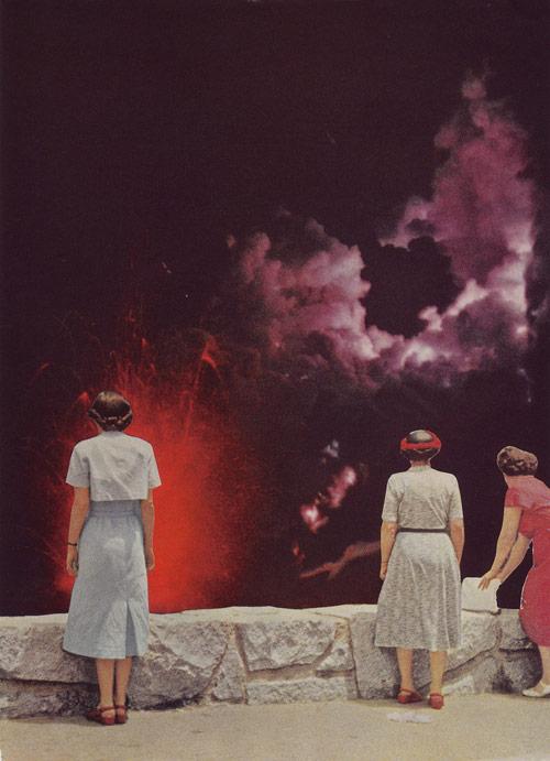 Collages by artist Elizabeth Hoeckel