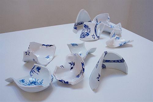 artist sculptures livia marin broken things