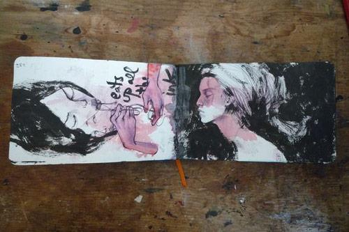Artist Stella Im Hultberg sketchbook drawings