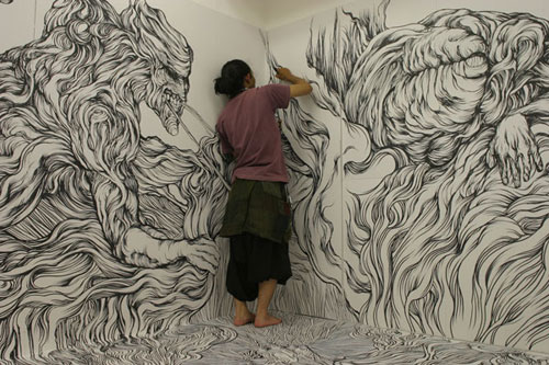 Drawings by artist Yosuke Goda