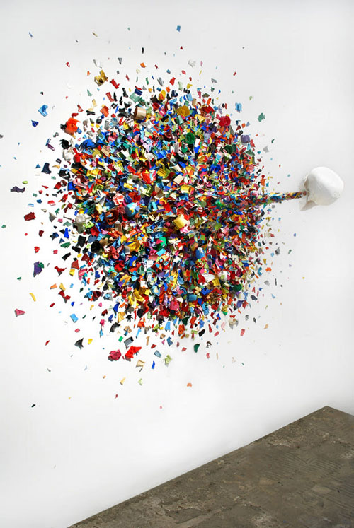 Confetti Death by street artist Typoe