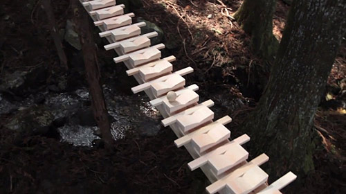 forest xylophone ntt docomo cell phone touch wood commercial