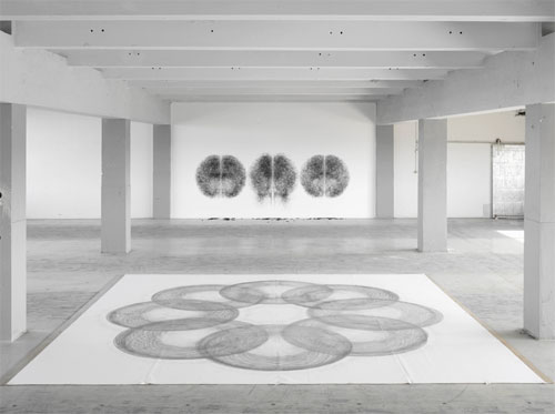 Performance drawings by artist dancer Tony Orrico