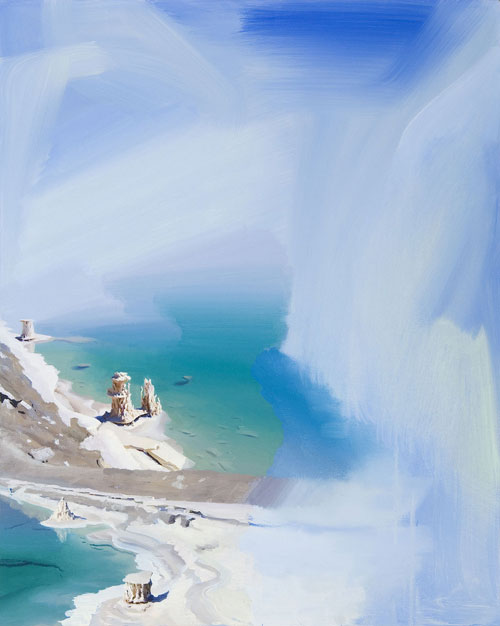 Artist painter Erling Sjovold painting