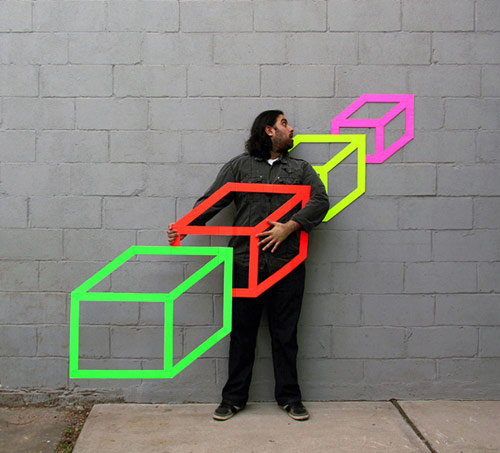 tape artist Aakash Nihalani self portraits