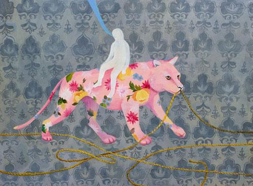 Artist painter Amy Kligman painting