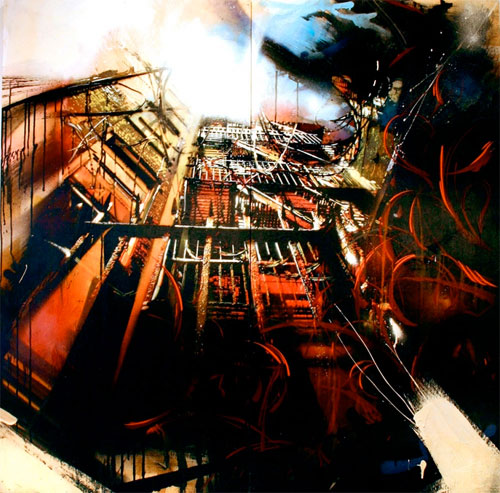 artists Dana Woulfe Kenji Nakayama paintings