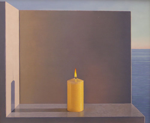 Artist painter David Ligare painting